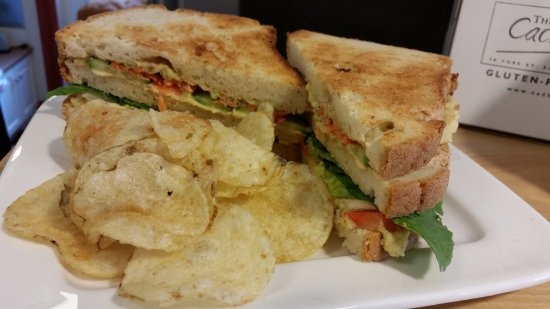 Sackville, Canada: The Great Big Veggie Sandwich.  Great with a GF Beer.