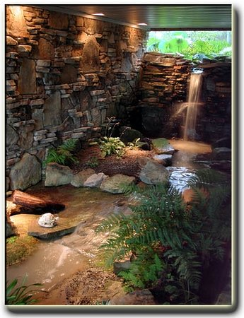 Monterey, TN: Marvel at the interior waterfall and stream in our B&B Middle TN Bed and Breakfast