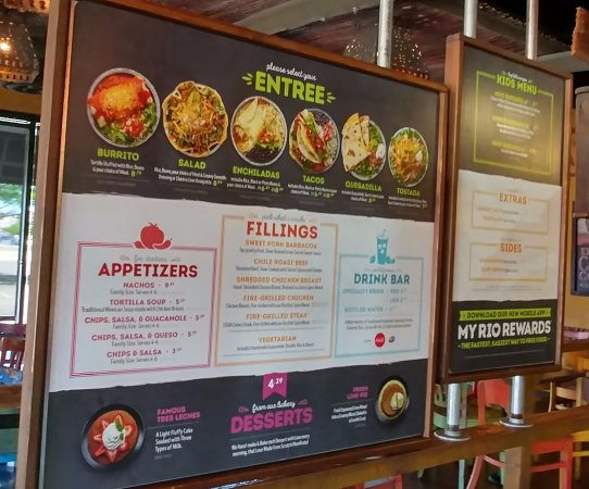 Cafe Rio Menu Grand Junction Co