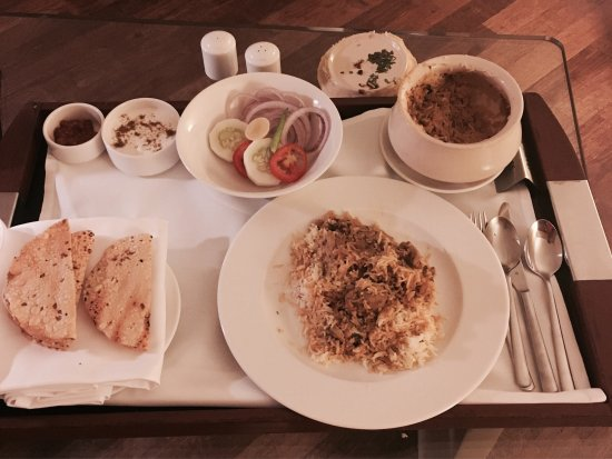Hyatt Regency Mumbai: In room dining    DUM BURIYANI - chicken      Re.1300++