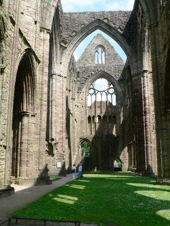 Chepstow, UK: Tintern Abbey Transept with Massive Medieval Windows!