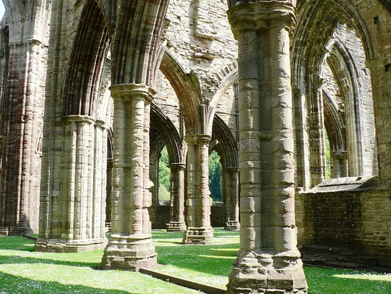 Chepstow, UK: Medley of Ancient Medieval Sandstone Carved Columns!