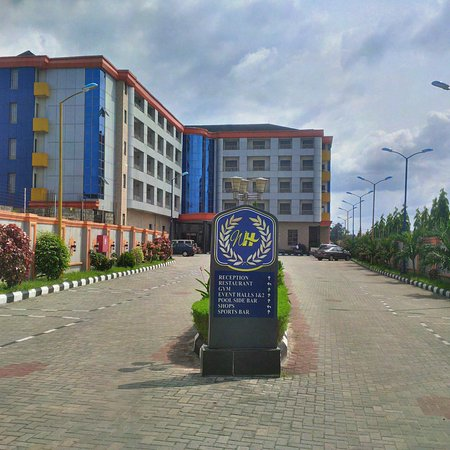 Warri, Nigeria: Wetland Hotel Entrance