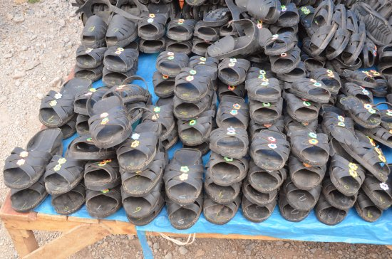 Chinchero, Pérou : calzature