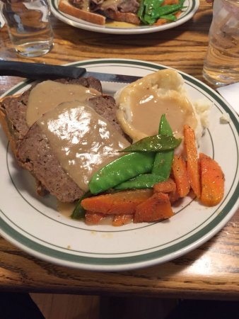 Wilmington, VT: Gravy on meatloaf