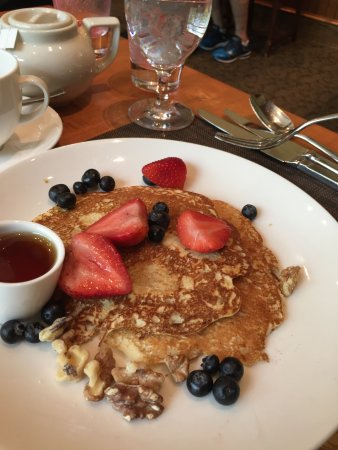 The Lodge at Woodloch: Greek yogurt pancakes - very good