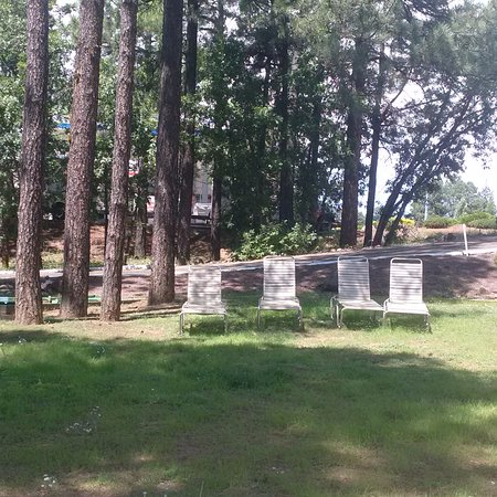 Pinetop-Lakeside, AZ: Lounge chairs in courtyard to relax in