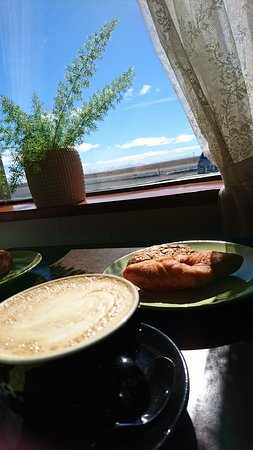 Borgarnes, Iceland: There is always time for one Kleina (and Latte) :)