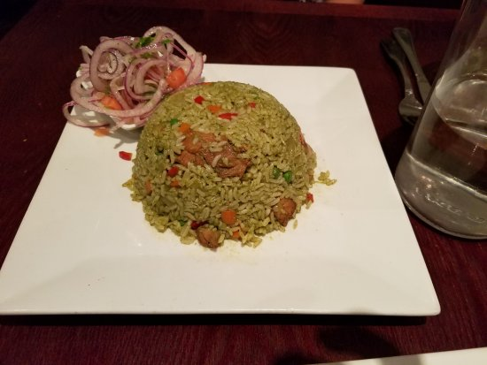 One of our chosen entrees arroz con pollo yummy picture of las las vinas peruvian restaurant one of our chosen entrees arroz con pollo yummy forumfinder Image collections