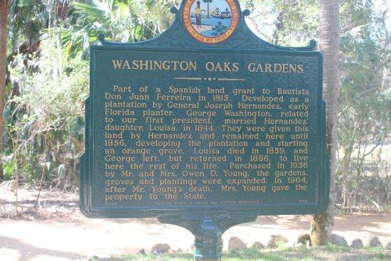 Washington Oaks Gardens State Park: Washington Oaks Garden