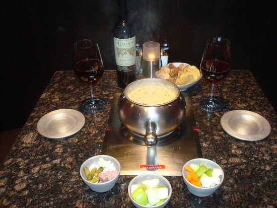 The Melting Pot: Ask your server for a nice wine pairing for dinner