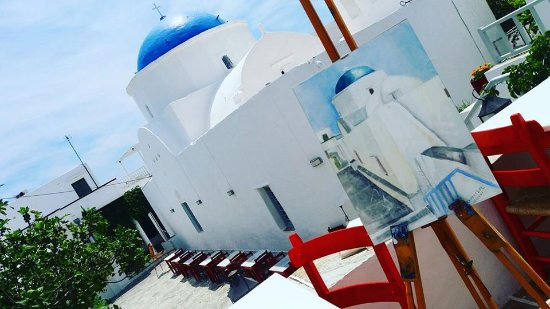 Apollonia, Grekland: CAYENNE RESTAURANT ART GALLERY