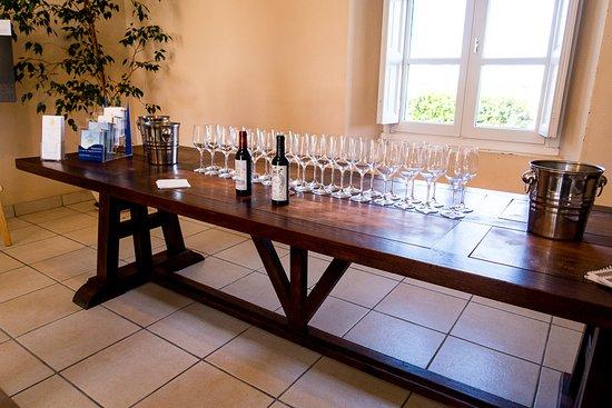 Margaux, France : the tasting room
