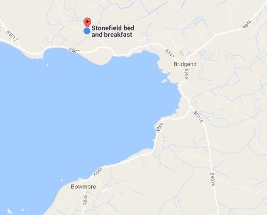 Bridgend, UK: Location of B and B