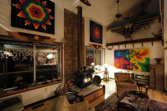 Hill Home Forge: Great room and art gallery