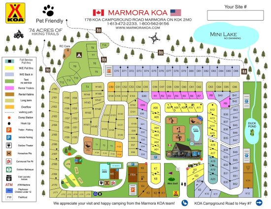 Marmora, Canadá: This is our site map