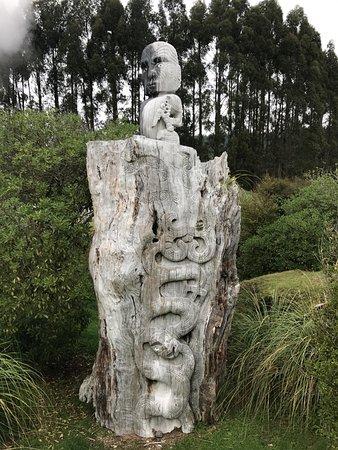 Taupo, Neuseeland: carving