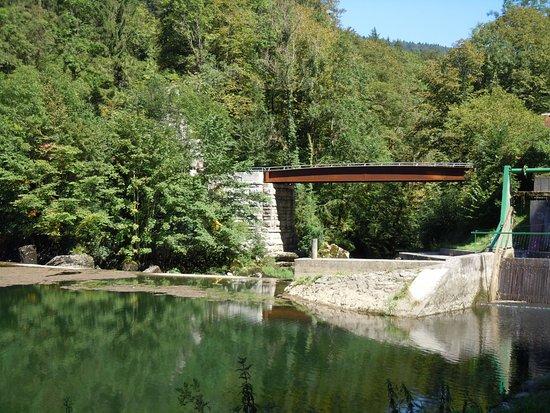 Le Noirmont, Schweiz: Le pont frontalier