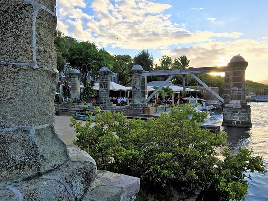 English Harbour, Antigua: view of sail loft at Nelson's Dockyard