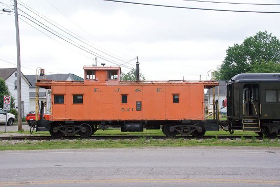 Connersville, IN: The caboose on the train.