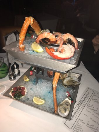 Seafood tower and lobster