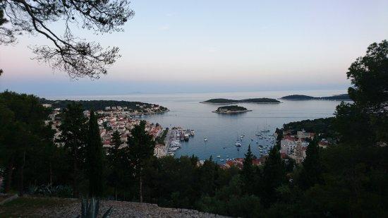 Hvar Fortress: panorama sur la ville