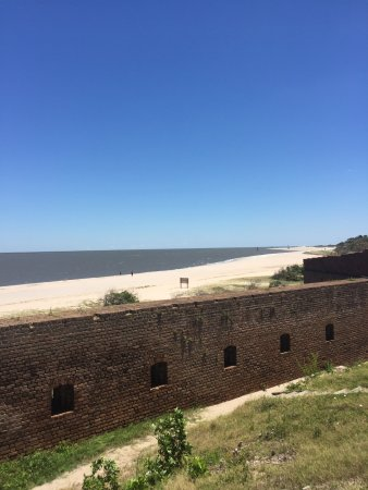 Fort Clinch State Park: Looking out to sea from the top of Fort Clinch