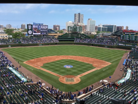Wrigley Field : Great day of baseball! The Cubs won!