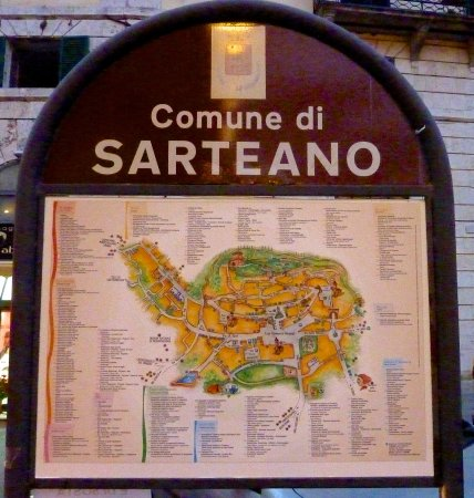 Map of the town ot Sarteano