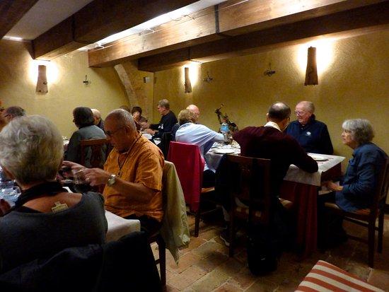 Sarteano, Itália: Large restaurant where we had our dinner