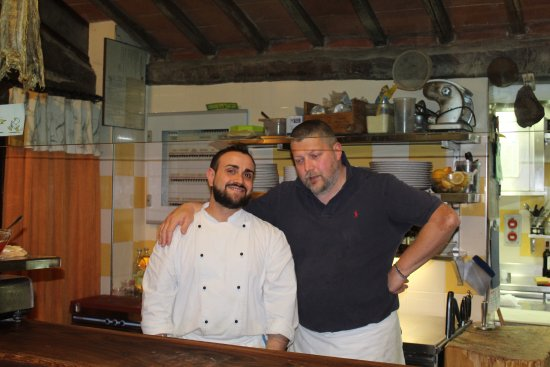 Vagliagli, Italia: The owner and cook.