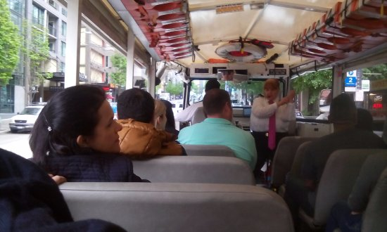 Ride the Ducks of Seattle: in the bus with the hilarious tour guide!