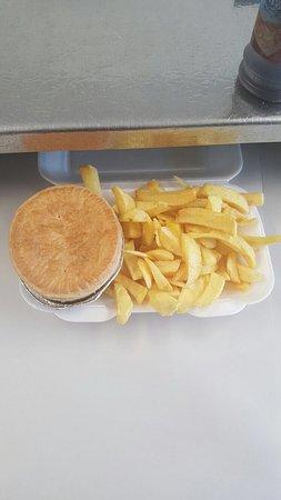 Pontypool, UK : Pie and chips!