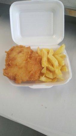 Pontypool, UK : Pensioners fish and chips!