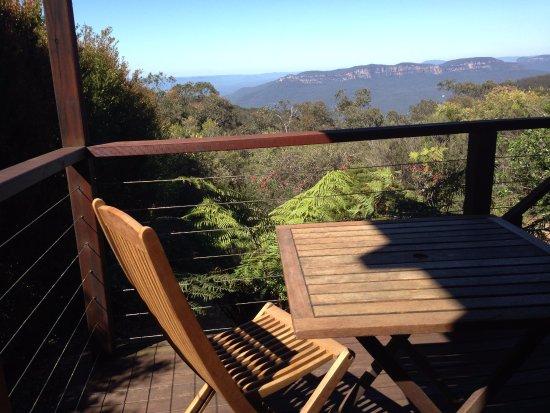 Wentworth Falls, Austrália: Cliff View room deck