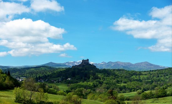 Auvergne, France: Chateau Murol in the distance