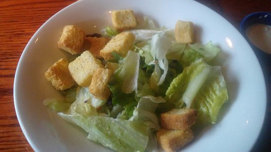 Bridgewater, NJ: Reb Lobster salad with white lettuce and croutons