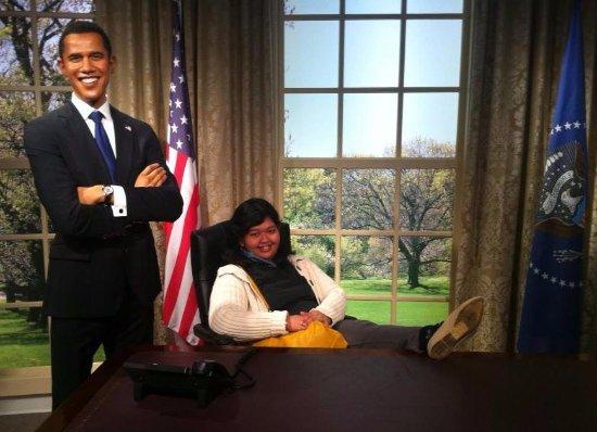 Madame Tussauds Sydney: withMr Obama