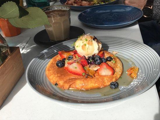 Bankstown, Australia: ricotta pancake
