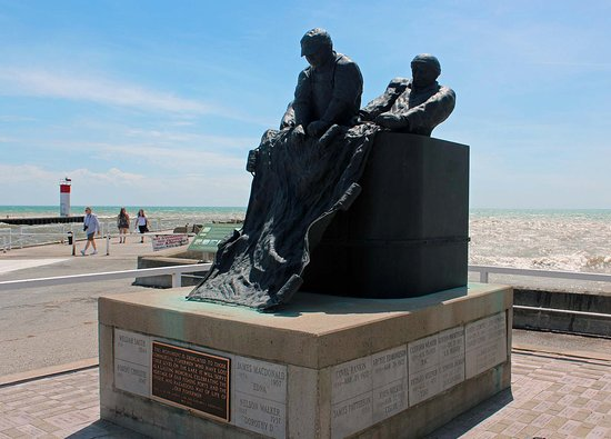 Port Dover, Kanada: The monument dedicated to lost fishermen on Lake Erie