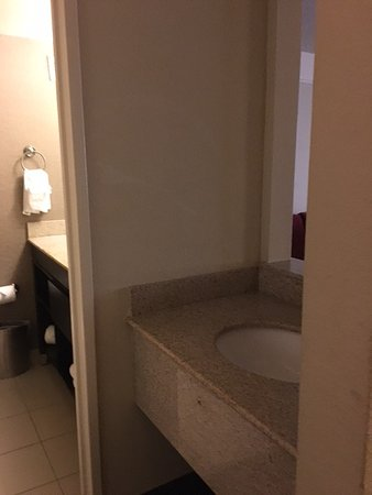 College Station, TX: Strange layout with one sink in bathroom and one outside