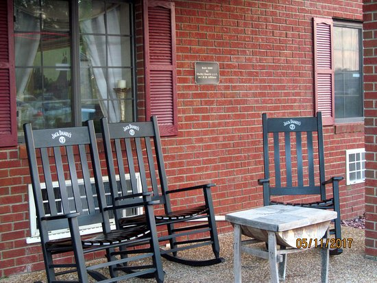 Shelbyville, TN: Jack Daniel's rocking chairs.