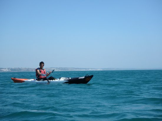 Oeiras, Portugal: Annabelle took some great pictures of me kayaking!