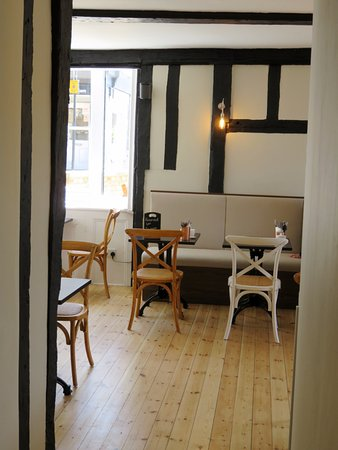 St Ives, UK: Inside the newly refurbished River Terrace Cafe (22/May/17).
