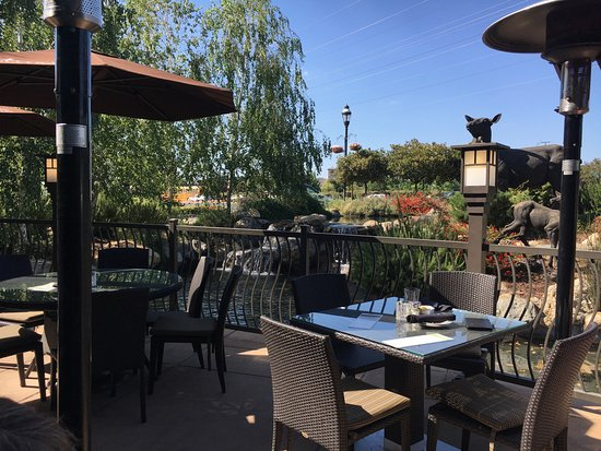 Roseville, Californië: Beautiful outdoor back patio for happy hour!