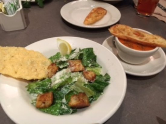 Columbia, MD: Chicken Caesar Salad and Tomato Soup
