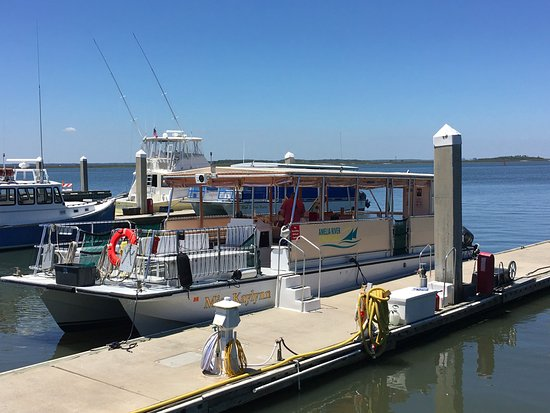 Fernandina Beach, FL: Our pontoon boat, the Miss Kaylynn
