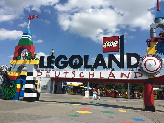 Entrance to Legoland Deutschland (Gunzburg, Germany ...