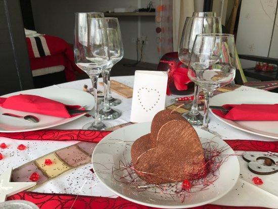 Bras-Panon, Ile de La Réunion : une décoration faite à l'occasion de la Saint Valentin