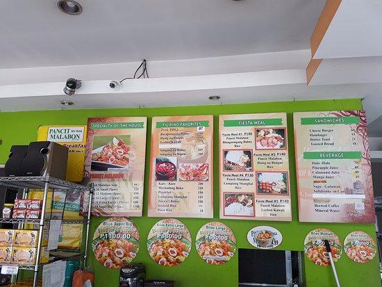 Marikina, Filippinene: Menu on the wall
